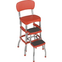Cosco Home & Office RETRO CHAIR/STEP STOOL 11-120-RED1