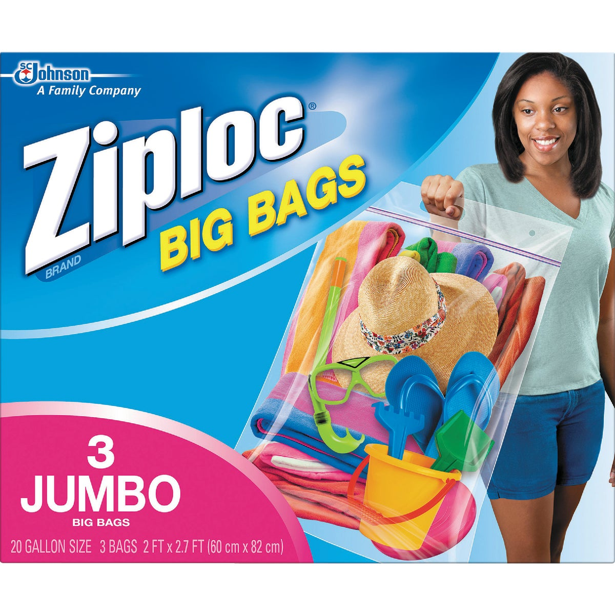 Johnson S C Inc XXL ZIPLOC BIG BAGS 65645
