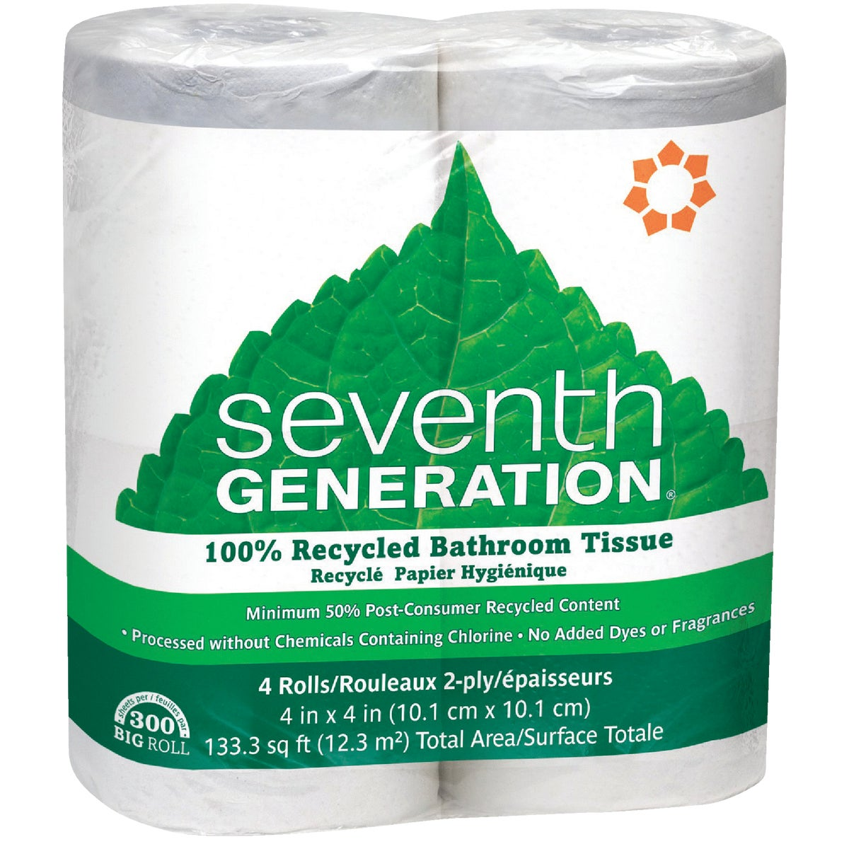 4RL RECYCLED BATH TISSUE - 10732913137326 by Seventh Generation