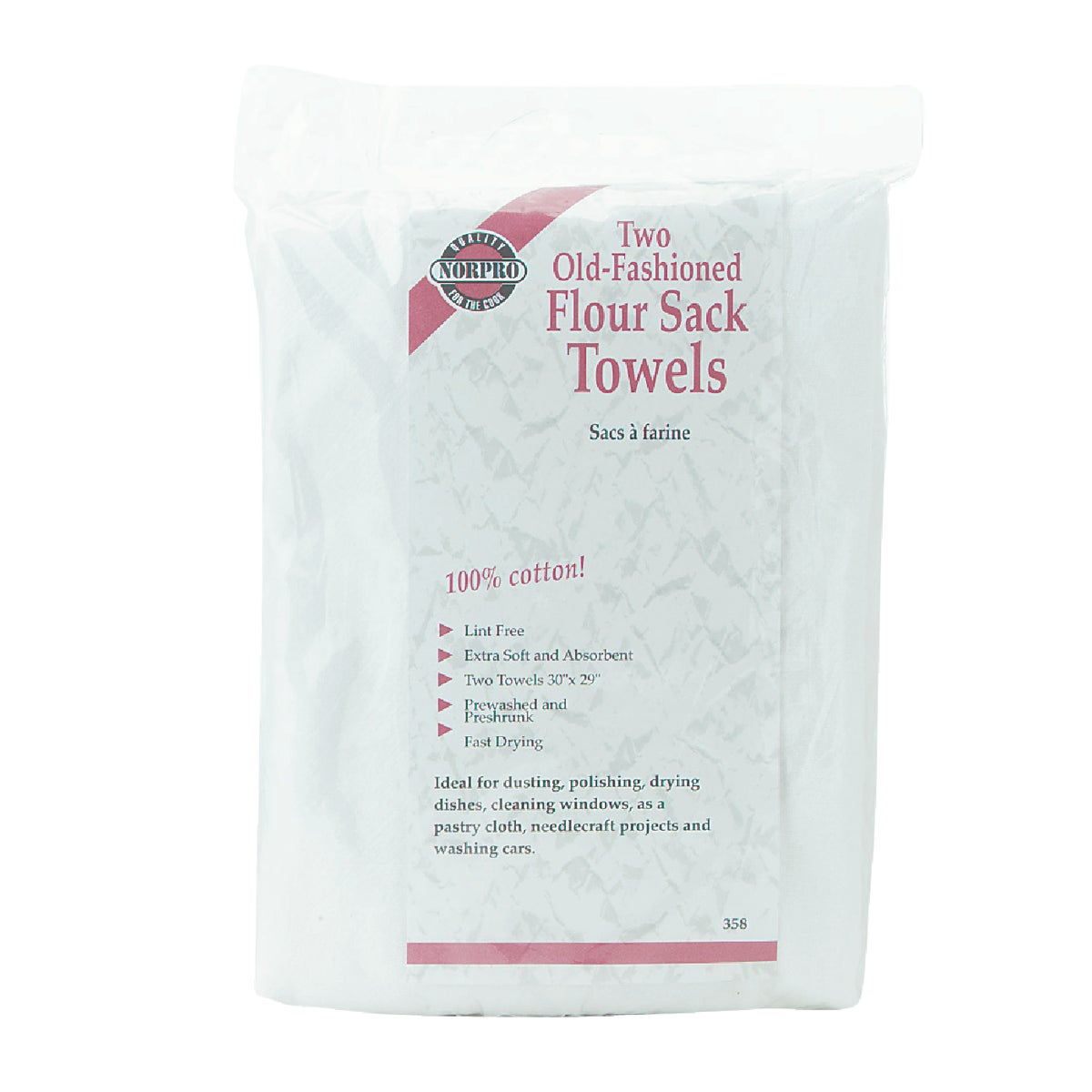 2PK FLOUR SACK TOWELS - 358 by Norpro