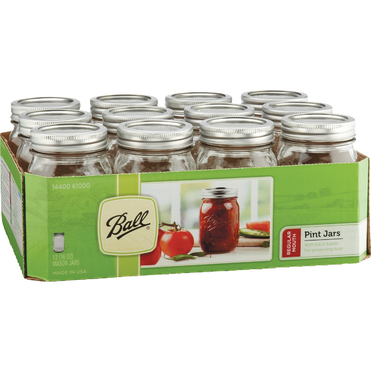 12 1PT REG MASON JARS - 61000 by Jarden Home Brands