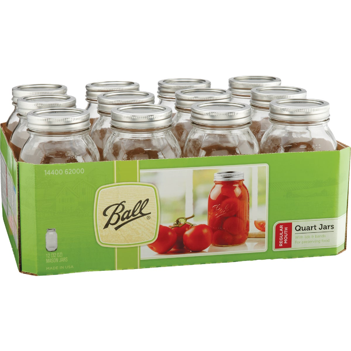 12 1QT REG MASON JARS - 62000 by Jarden Home Brands