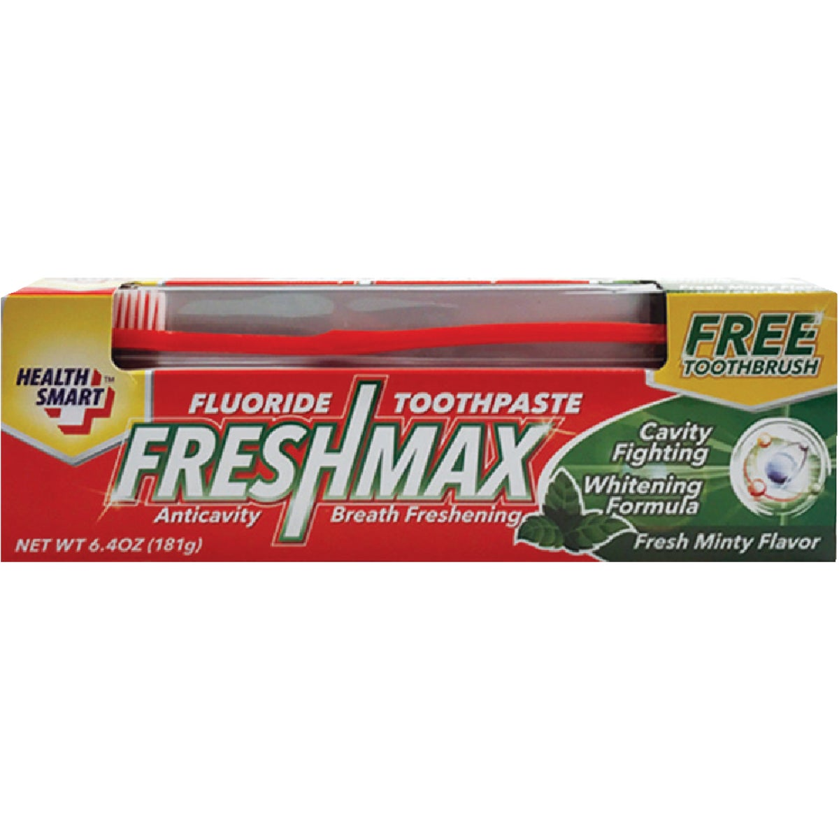 6.4OZ TOOTHPASTE W/BRUSH