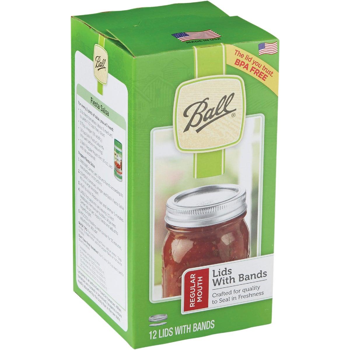 REG 12 MSN JAR LID&BAND - 30000 by Jarden Home Brands