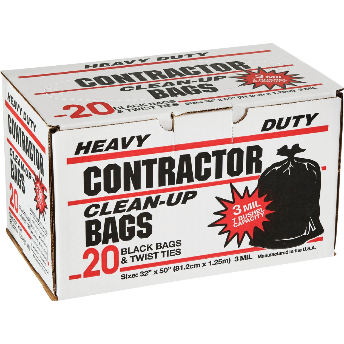 20CT CONTRACTOR BAGS - 19020 by Primrose Plastics