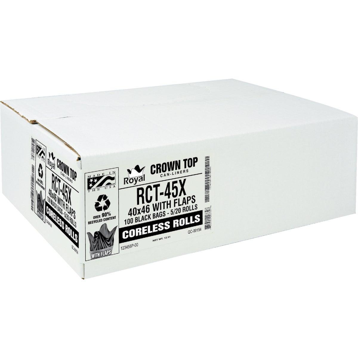 40X47 XH BLACK CAN LINER - RL-4047XH by Aluf Plastics Incom