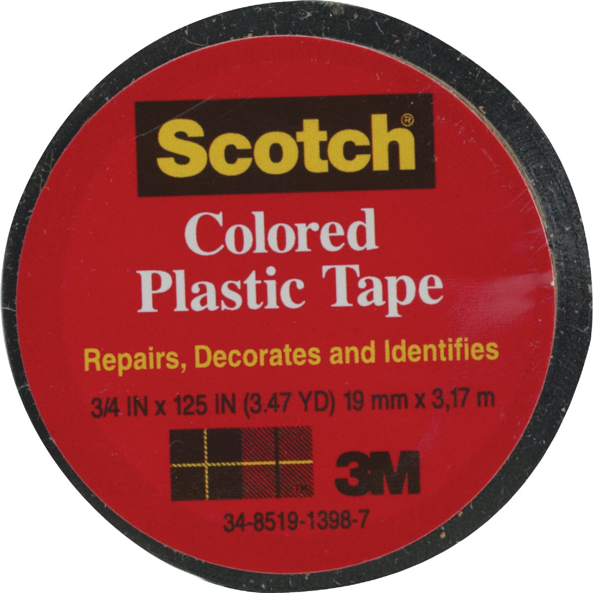 "SCOTCH 3/4""BLK PLST TAPE - 190 by 3m Co"