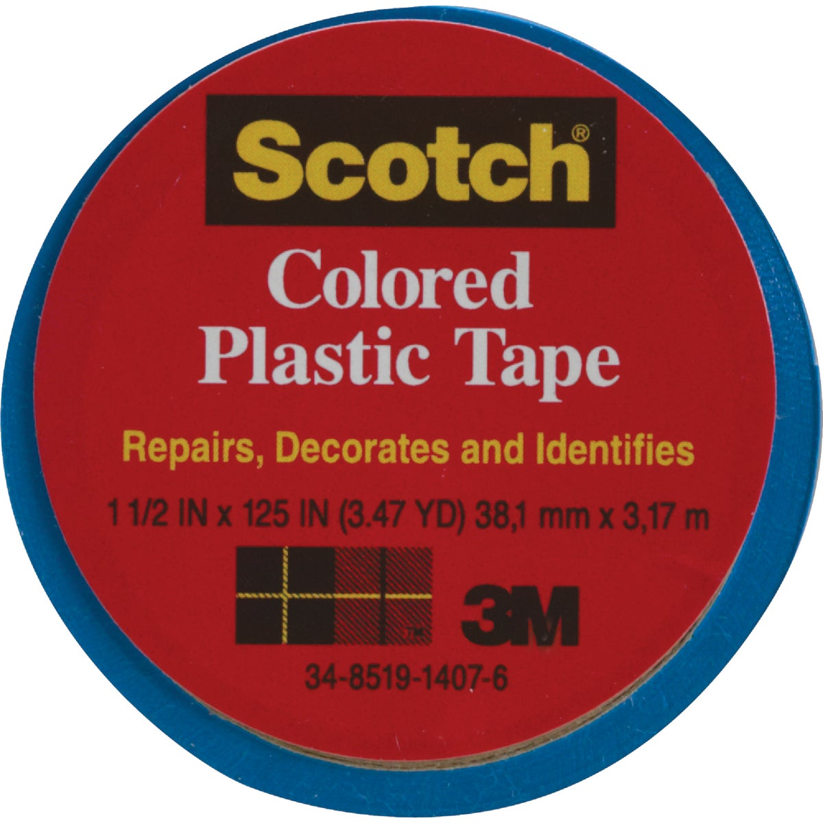 "SCOTCH 1-1/2""BLU PL TAPE - 191 by 3m Co"