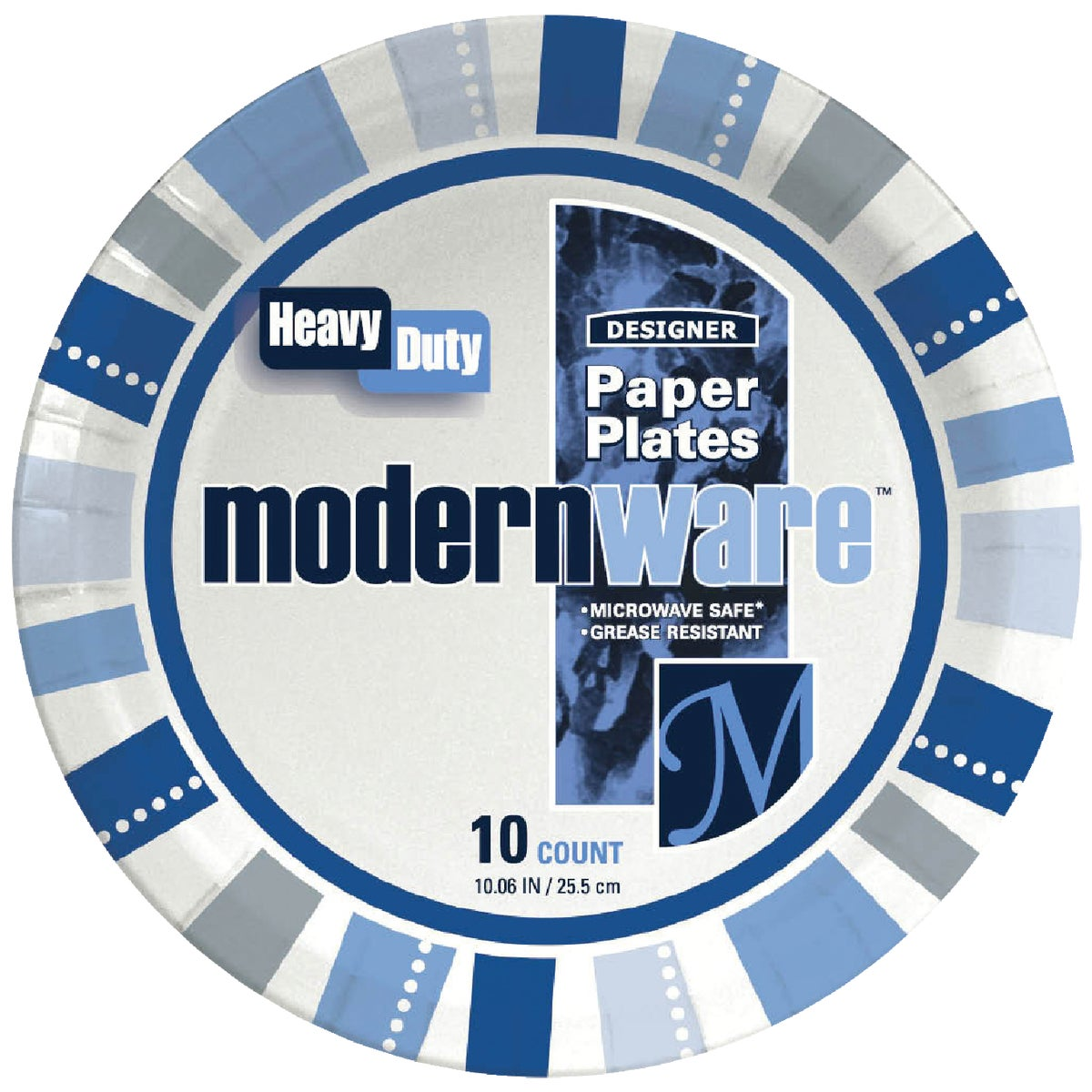 "10CT 10-1/4"" PAPER PLATE - DP10MWDIGI by A J M Packaging Corp"