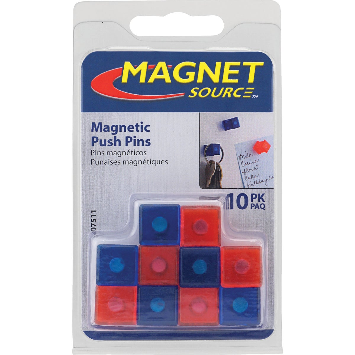 PUSH PIN MAGNETS - 07511 by Master Magnetics