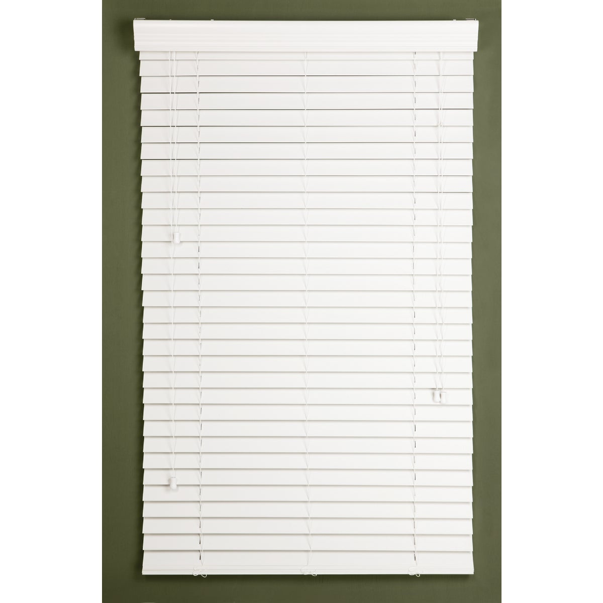 48X64 WHITE FAUX BLIND - 632186 by Lotus Wind Incom