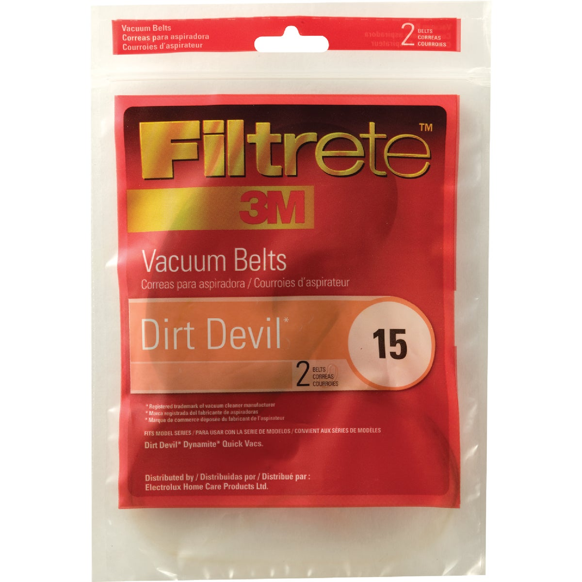 DIRT DEVIL 15 VAC BELT - 65015A-12 by Electrolux Home Care