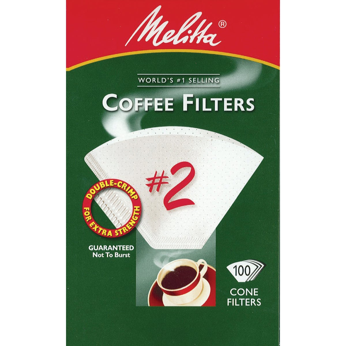 WHITE #2 COFFEE FILTER - 622712 by Melitta U S A Inc
