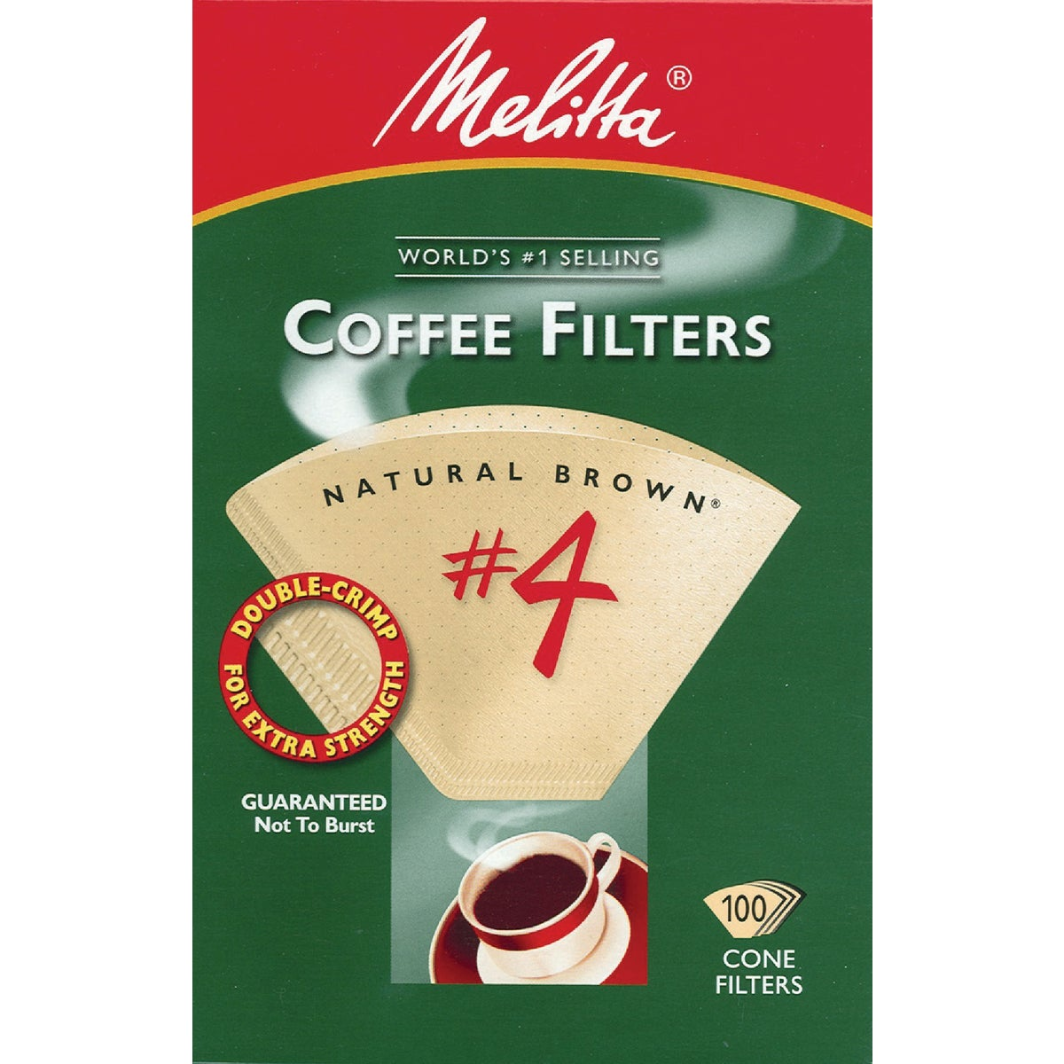 BROWN #4 COFFEE FILTER - 624602 by Melitta U S A Inc