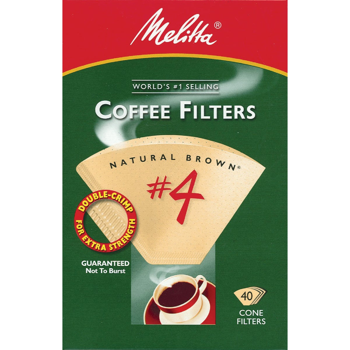 BROWN #4 COFFEE FILTER - 624412 by Melitta U S A Inc