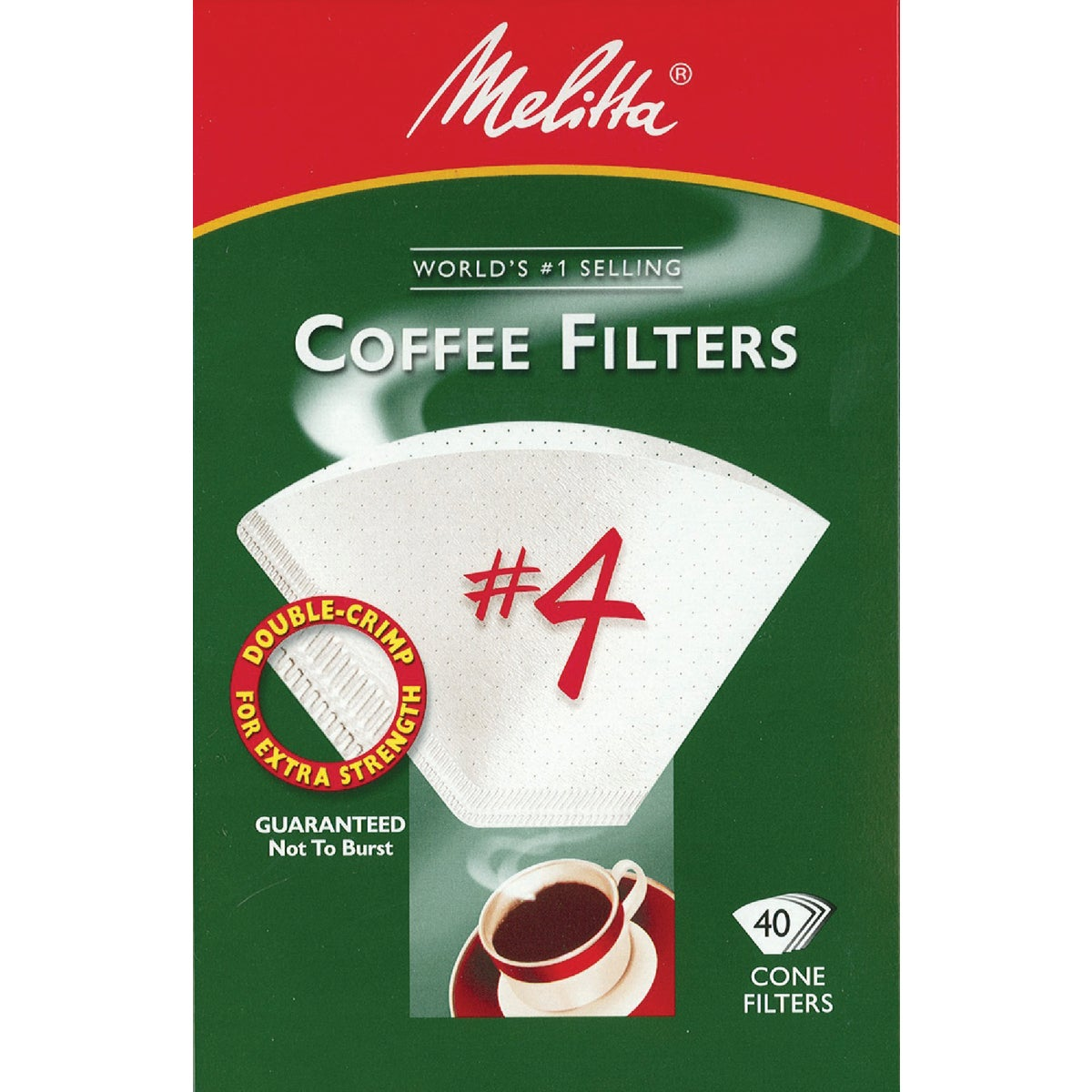 WHITE #4 COFFEE FILTER - 624404 by Melitta U S A Inc