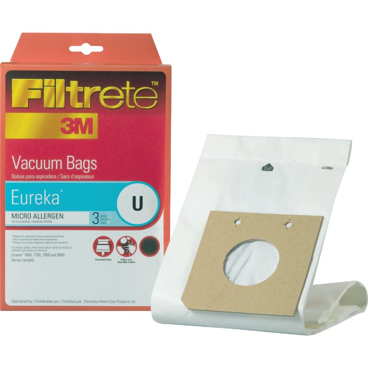 3M Filtrete Eureka Type U Micro Allergen Vacuum Bag (3-Pack)