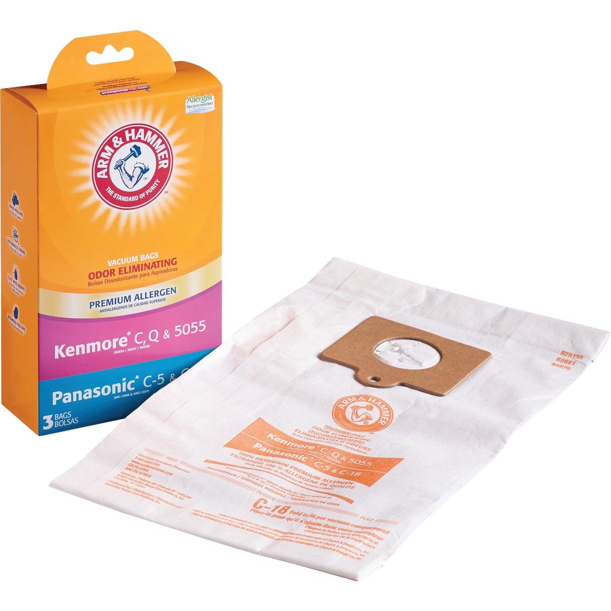 3M Filtrete Kenmore C, Q, 5055/Panasonic C-5 Micro Allergen Vacuum Bag (3-Pack)