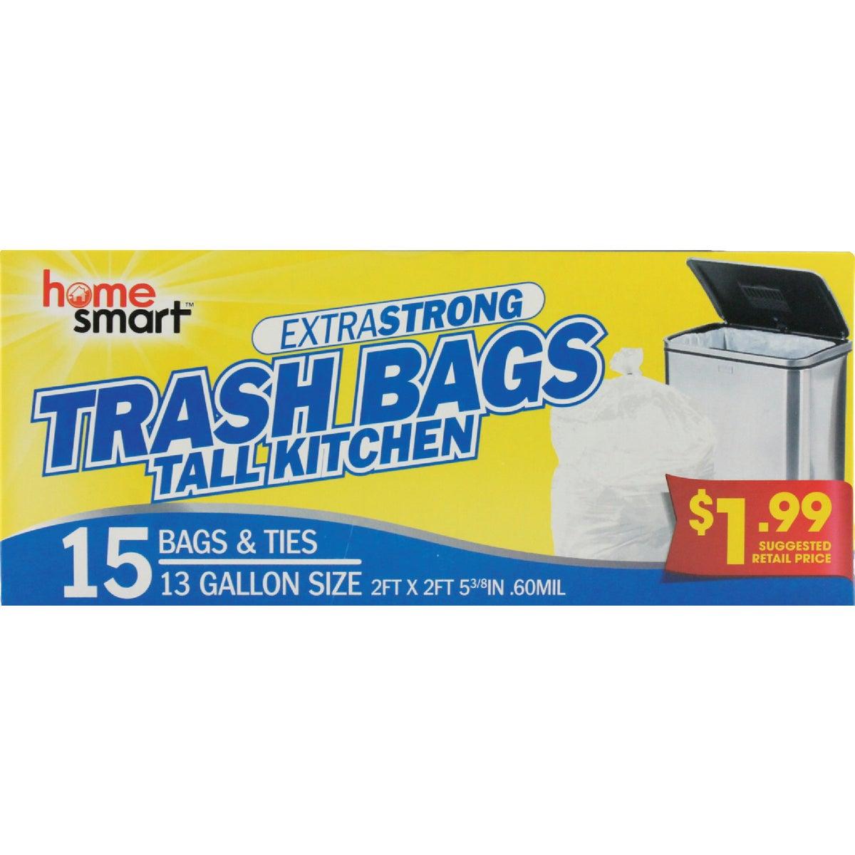 15CT 13GAL TRASH BAGS