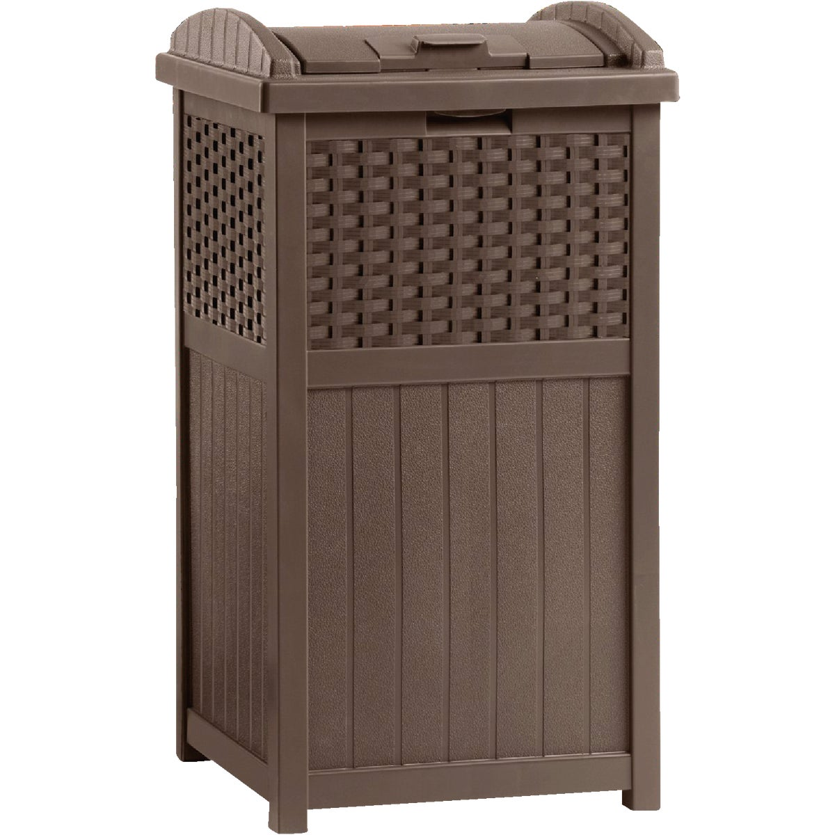 RESIN WICKER TRASH CAN - GHW1732 by Suncast Corporation
