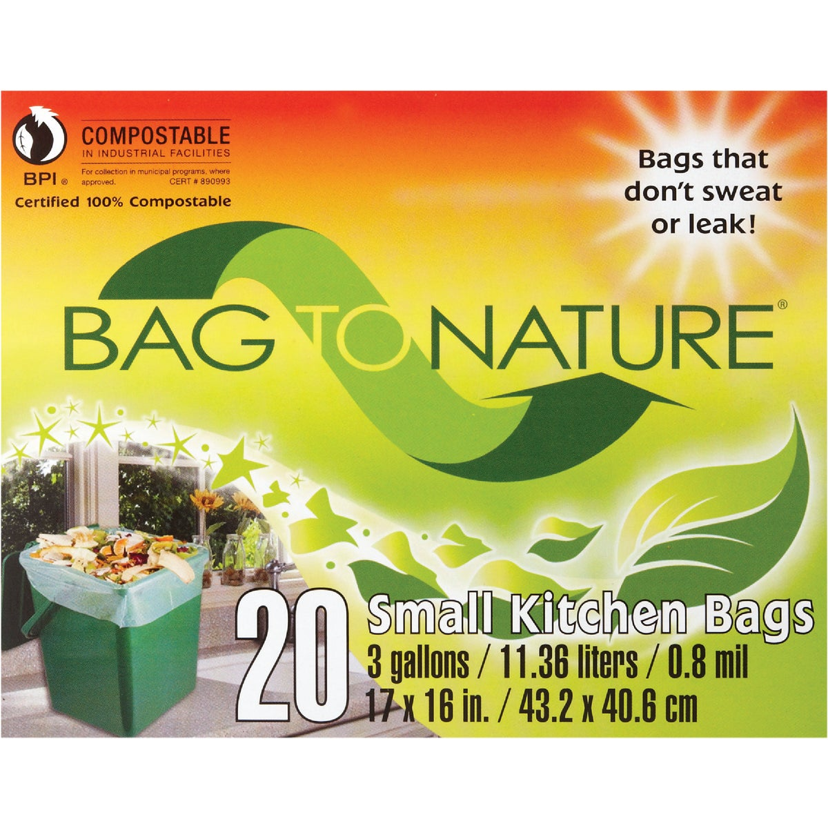 3GAL/20CT MINI TRASH BAG - 41201 by Indaco Manufacturing