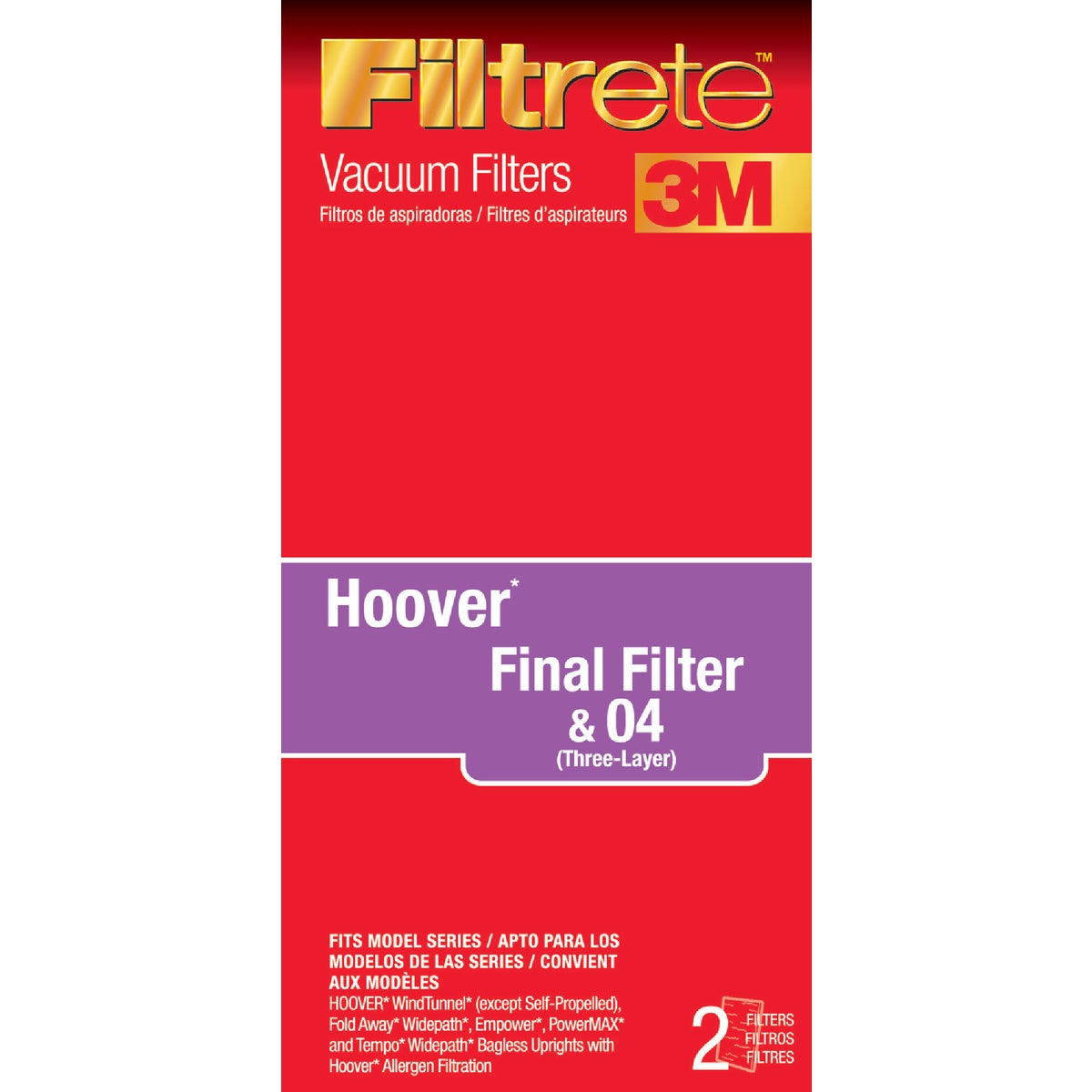 HOOVER FINAL VAC FILTER