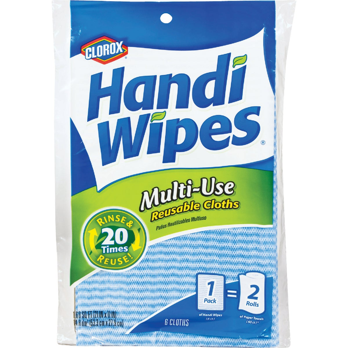 6 COUNT HANDI WIPES - 03100 by Clorox/home Cleaning