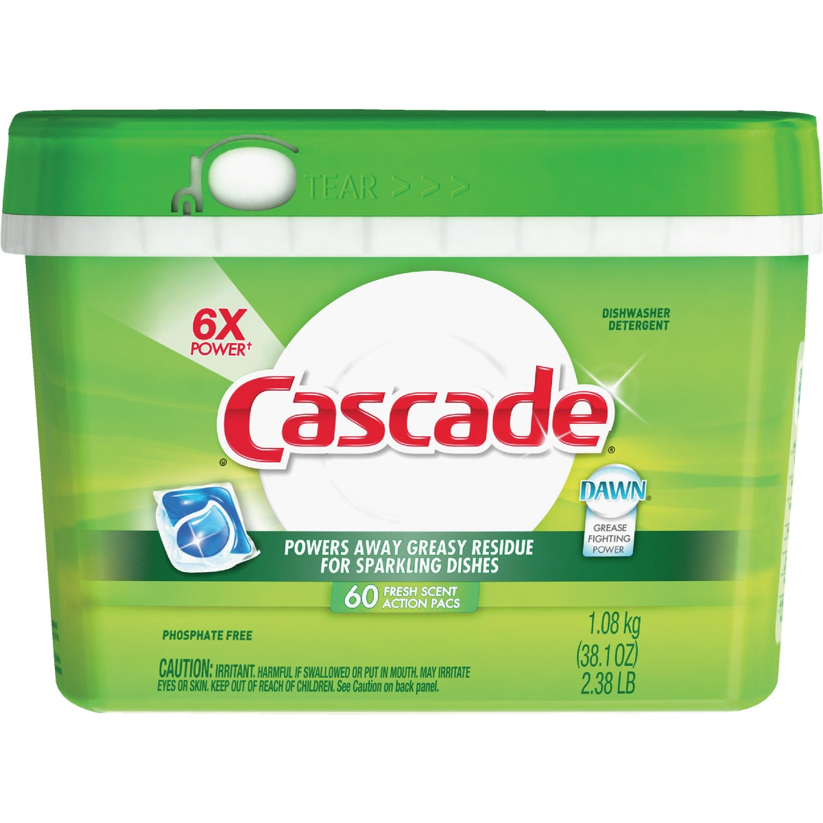 60CT CASCADE PACKS - 14392 by Procter & Gamble