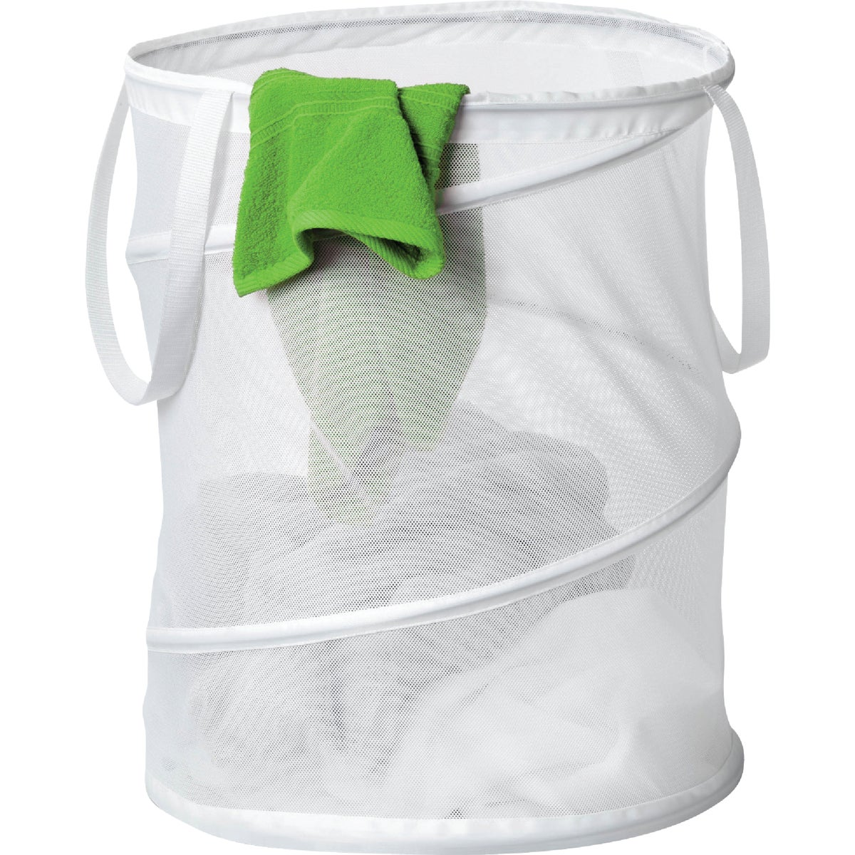 MED WHT MESH HAMPER - HMP-01262 by Honey Can Do