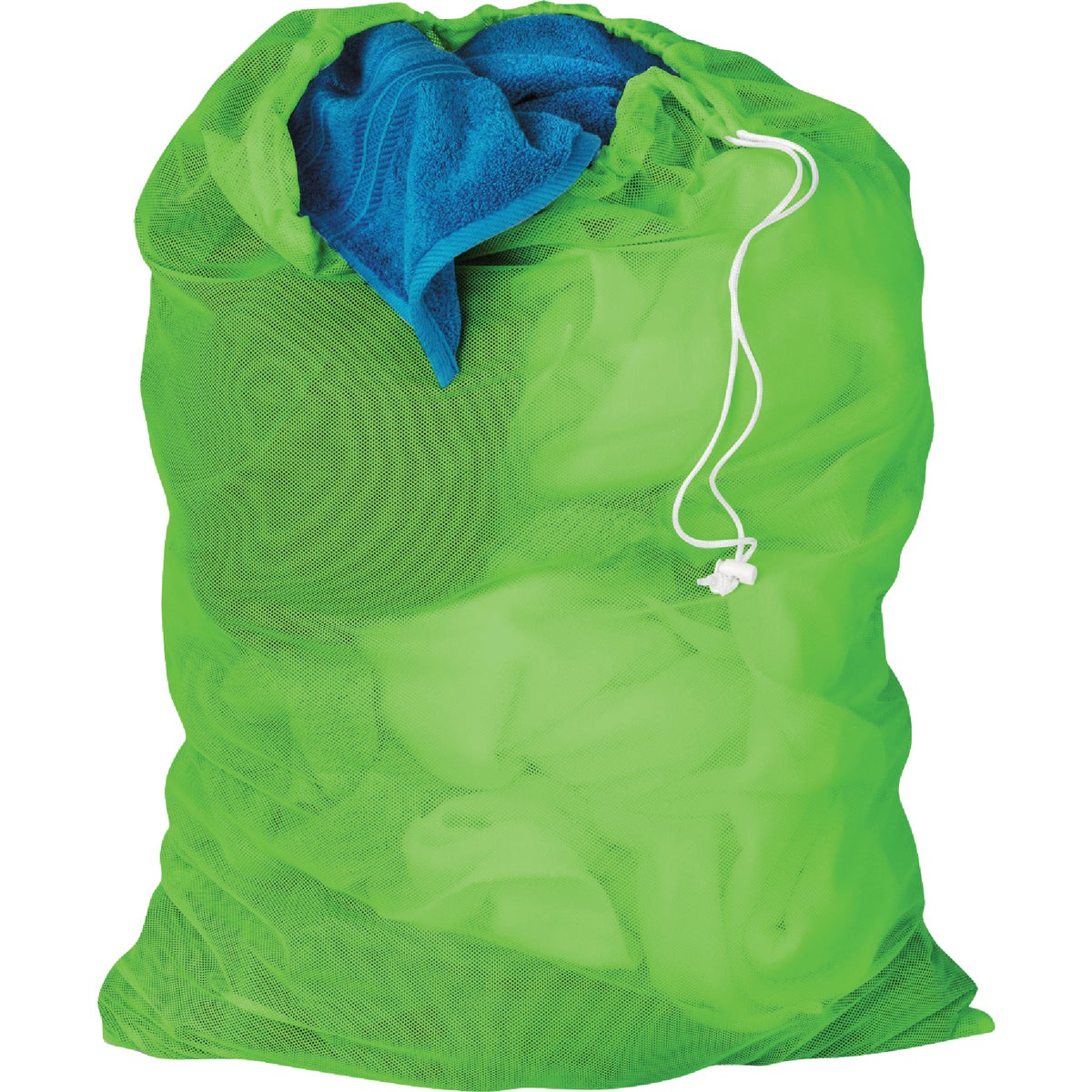 LM GRN MESH LAUNDRY BAG