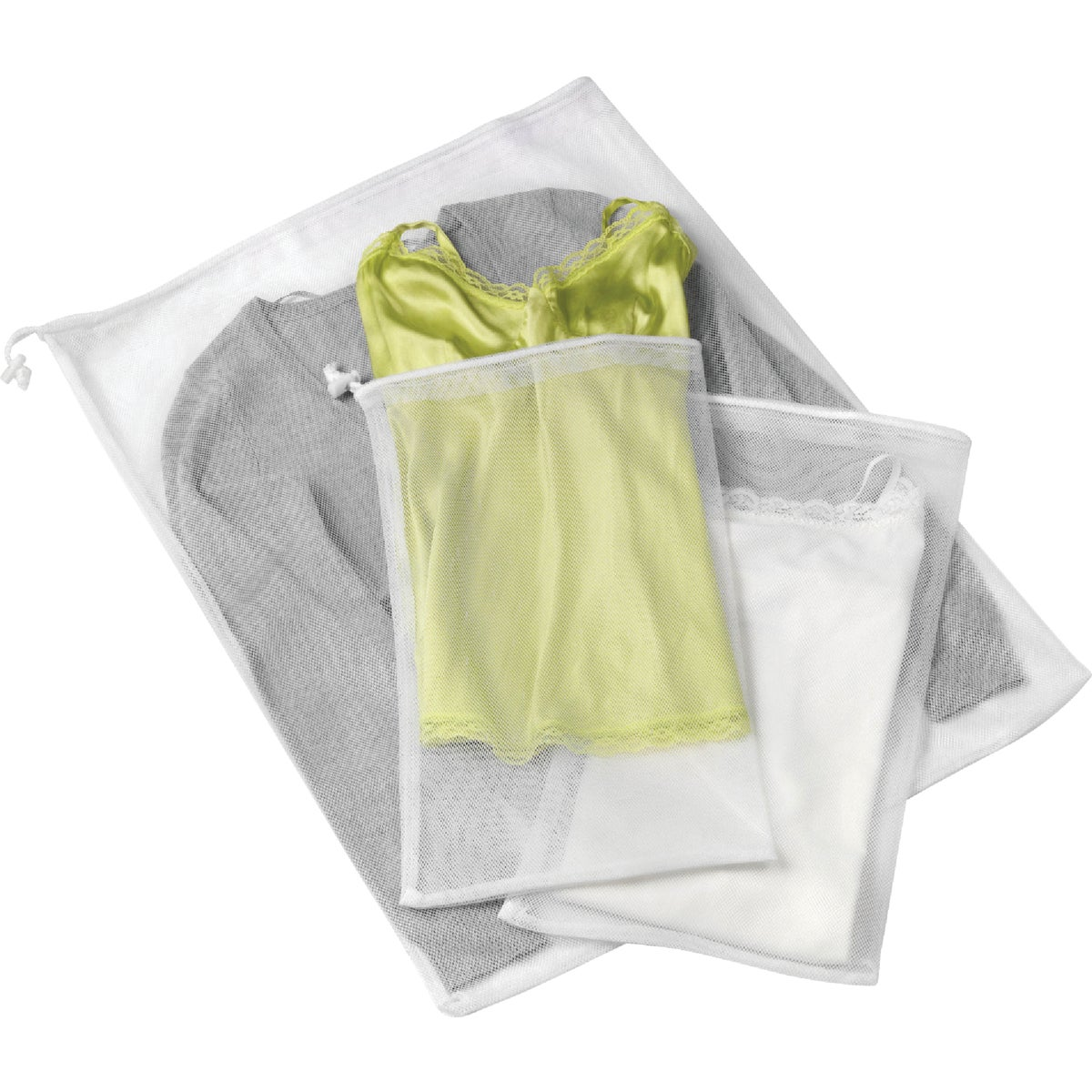 3PC MESH WASH BAG