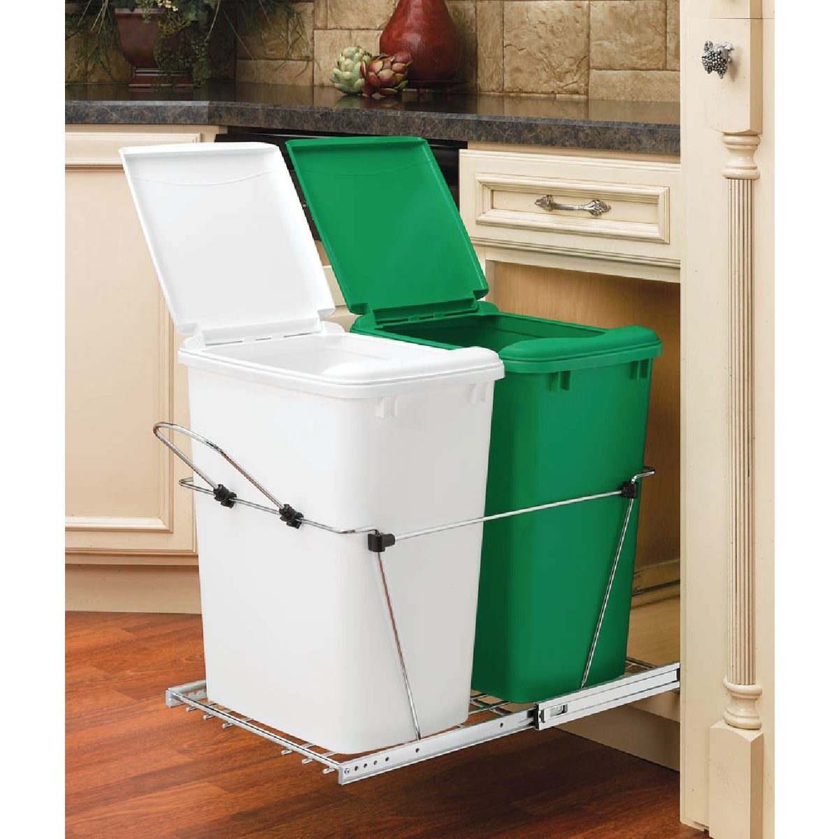 Rev-A-Shelf 35 Quart Double Recycling Pull-Out Waste Container
