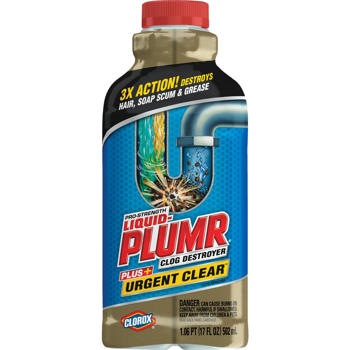 17OZ LIQ PLUMR URG CLEAR - 30548 by Clorox/home Cleaning