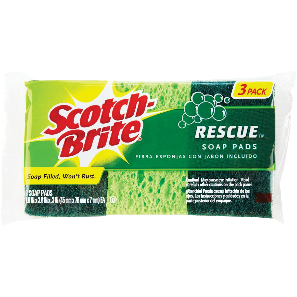 SCOTCH-BRITE RESCUE PAD - 300 by 3m Co