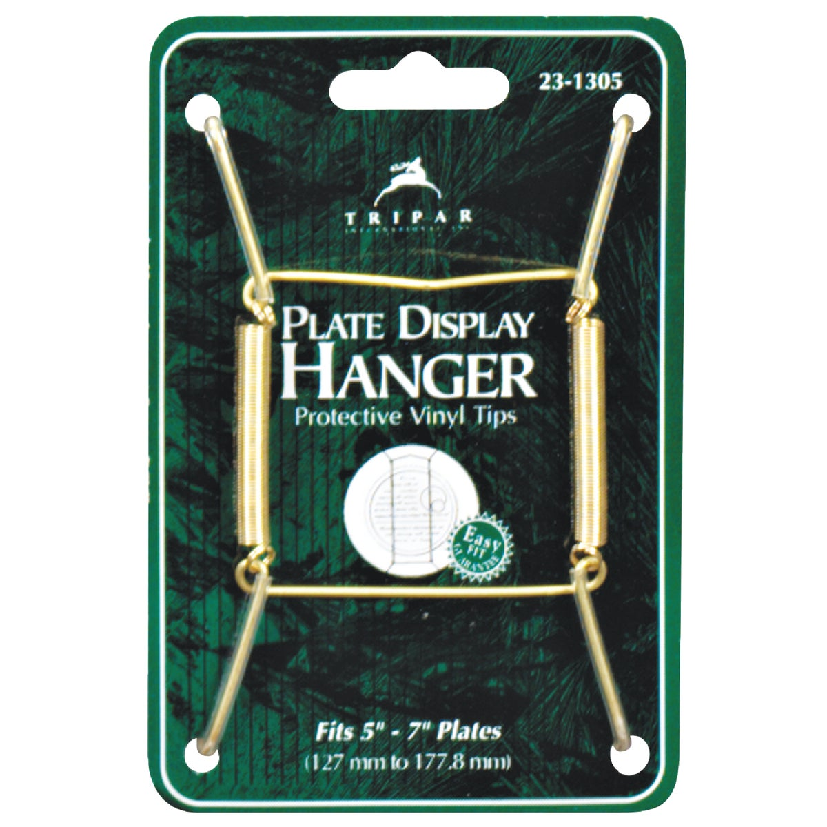 BRASS WIRE PLATE HANGER - 23-1305 by Tripar Intl