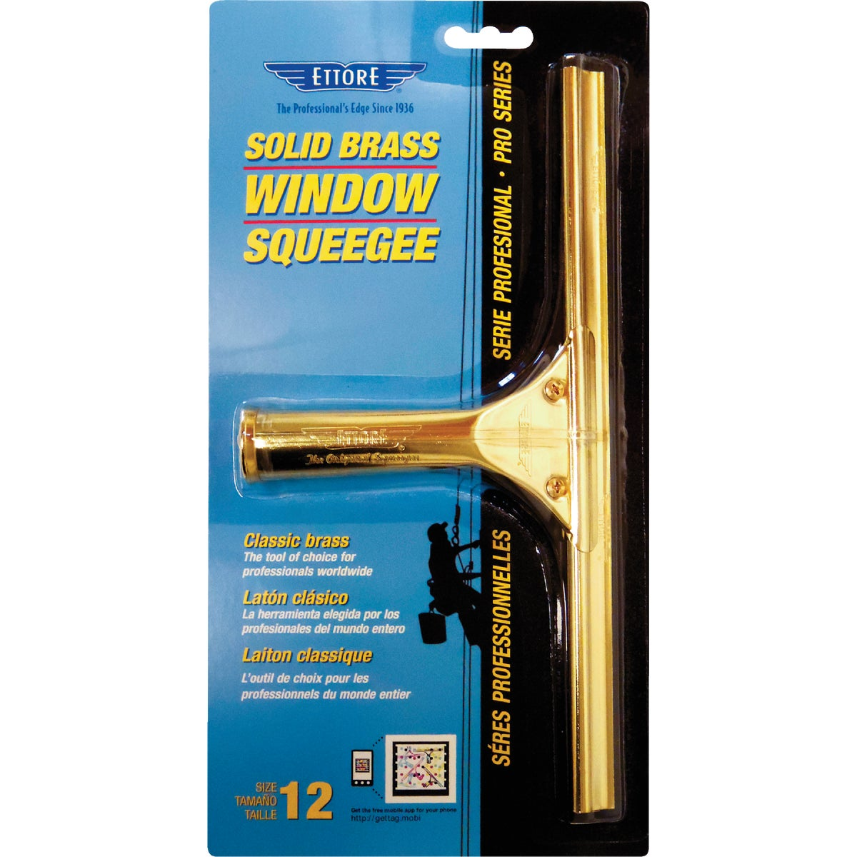 "12"" BRASS SQUEEGEE - 10012 by Ettore Products Co"