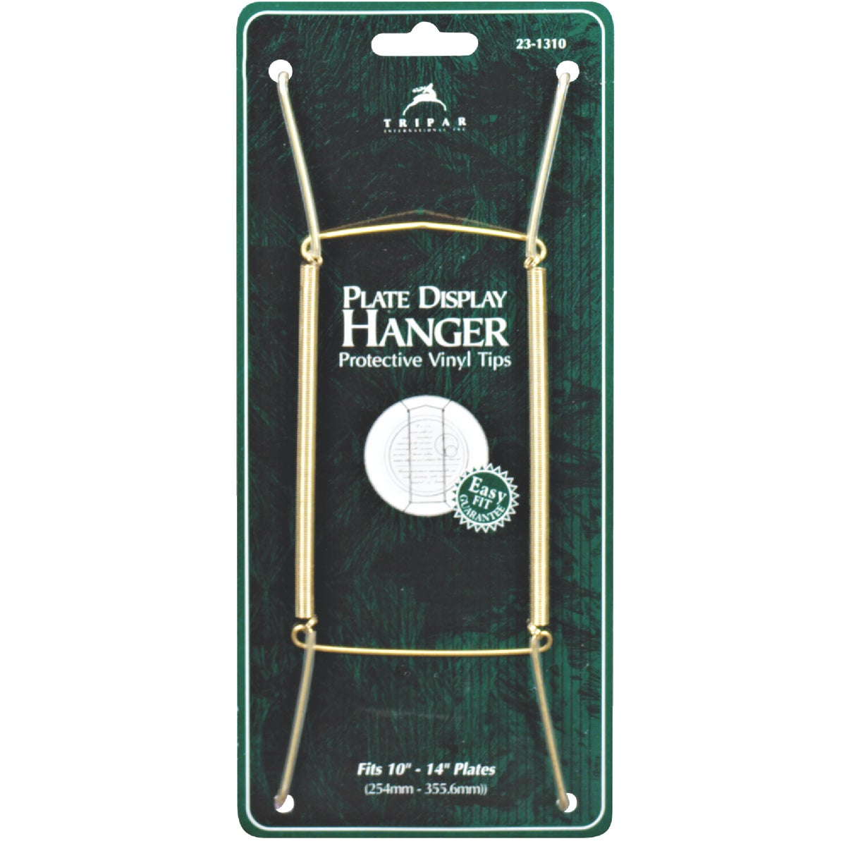 BRASS WIRE PLATE HANGER - 23-1310 by Tripar Intl