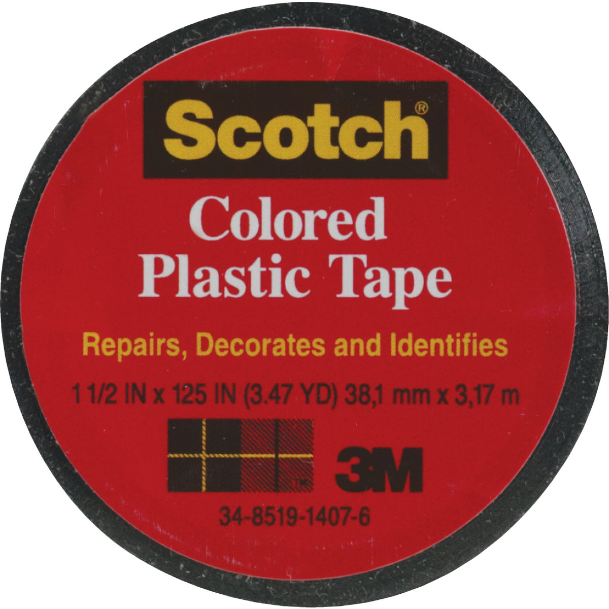 "SCOTCH 1-1/2""BLK PL TAPE"