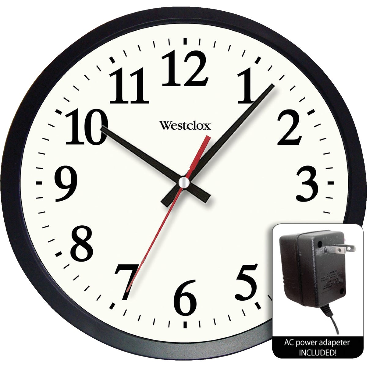 "14"" BLACK ELECTRIC WALL - 3994GG by Geneva Clock Company"