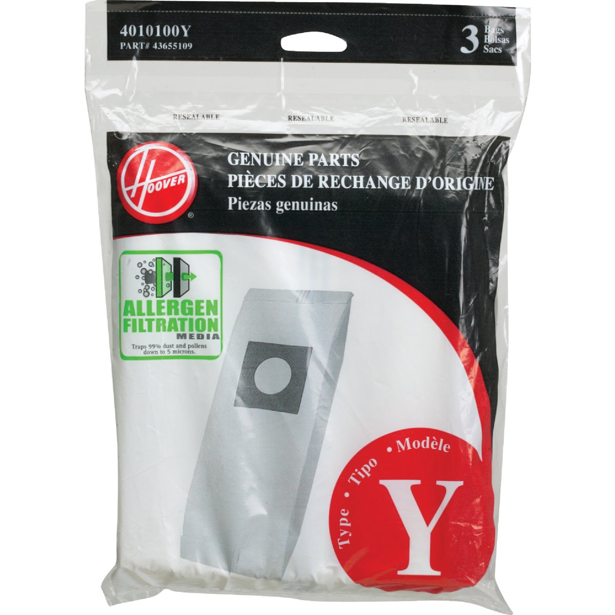 FILTRATION VACUUM BAG - 4010100Y by Hoover Co