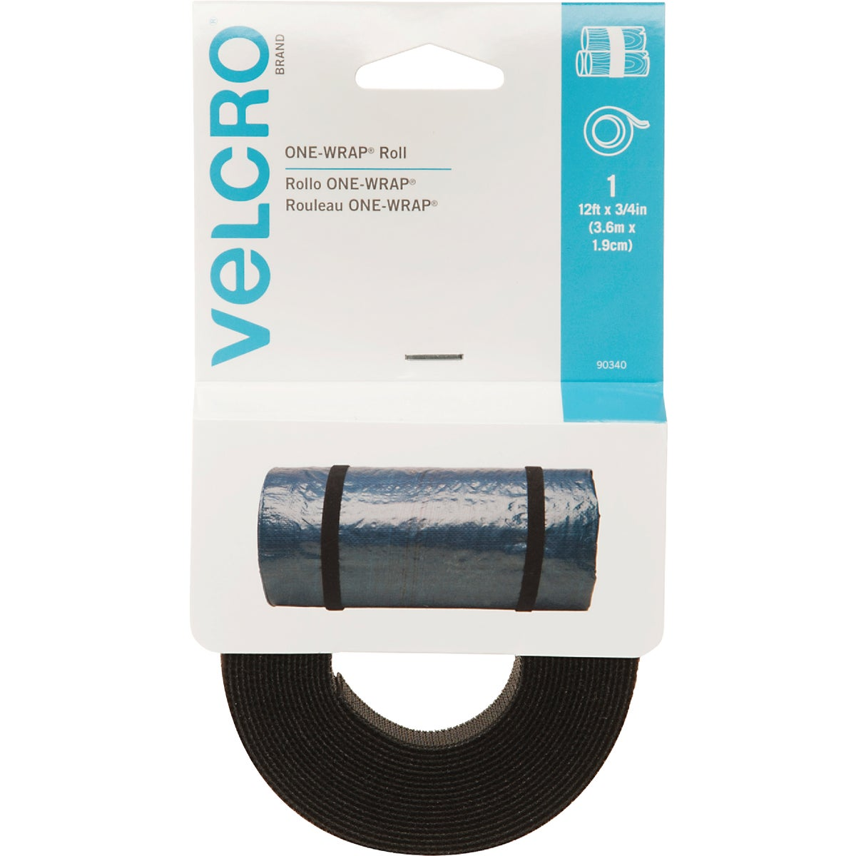 12'BLK ADHESIVE FASTENER - 90340 by Velcro Usa