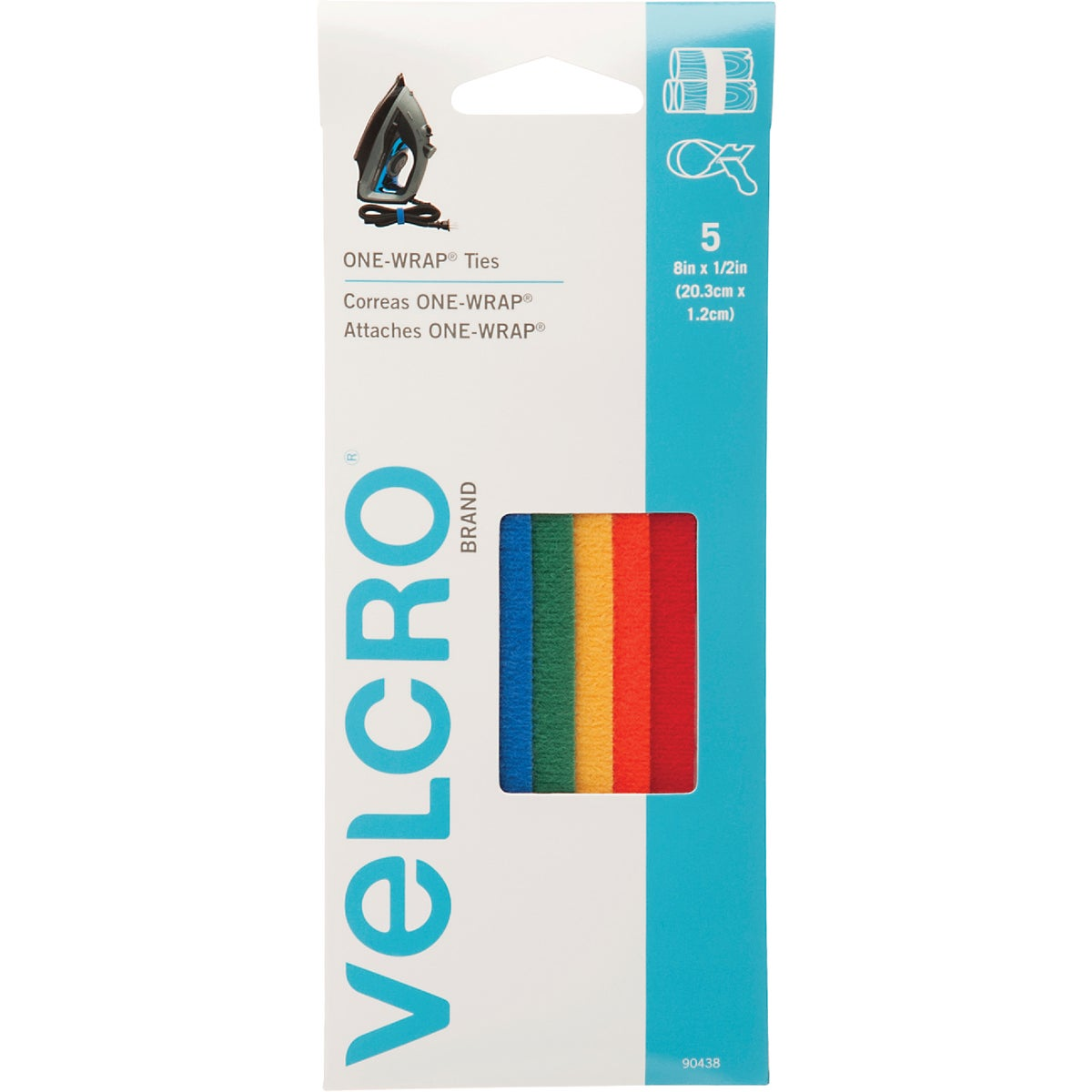 "8"" ADHESIVE FASTENER - 90438 by Velcro Usa"