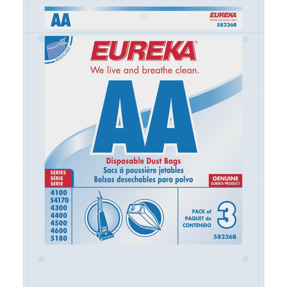 AA VAC BAG - 58236C-6 by Electrolux Home Care