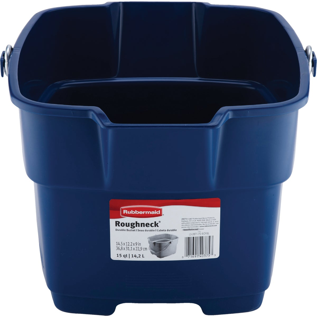 15QT BL METALC BUCKET - FG287100ROYBL by Rubbermaid Home