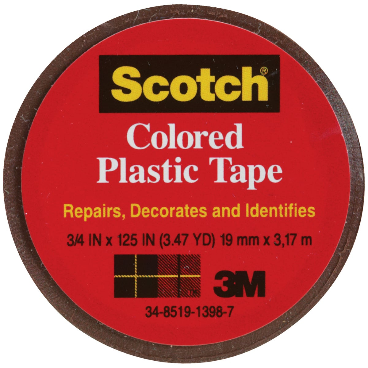 "SCOTCH 3/4""BRN PLST TAPE - 190 by 3m Co"