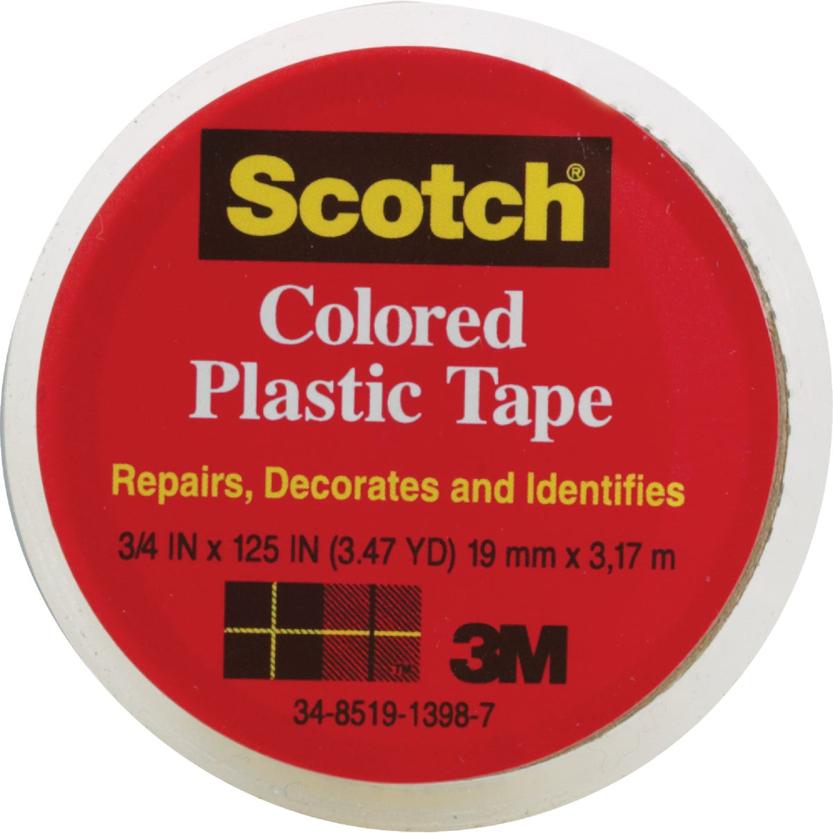 "SCOTCH 3/4""CLR PLST TAPE - 190 by 3m Co"