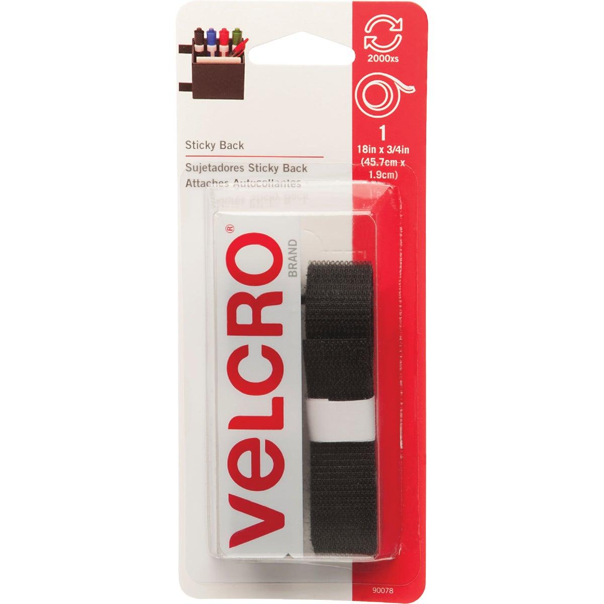 "18"" BLK ADHSIVE FASTENER - 90078 by Velcro Usa"