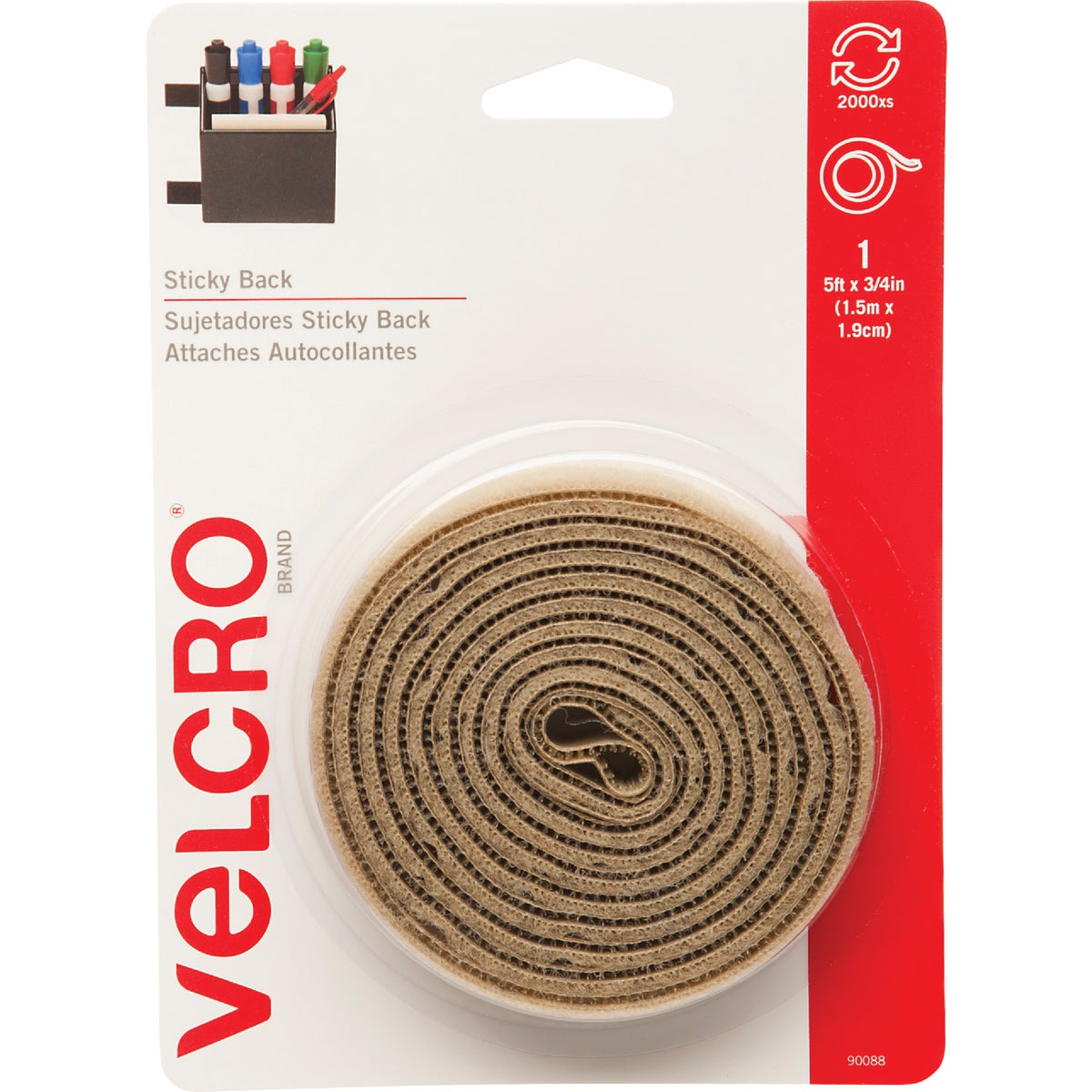 5' BGE ADHESIVE FASTENER - 90088 by Velcro Usa