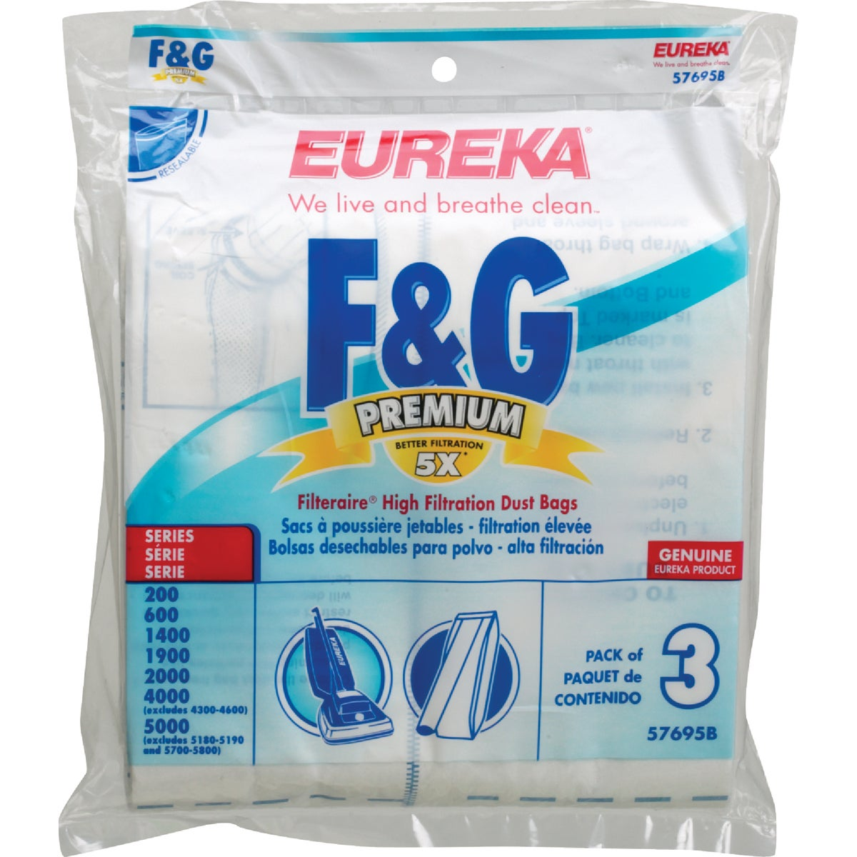 F&G FILTERAIRE VAC BAG - 57695B-6 by Electrolux Home Care