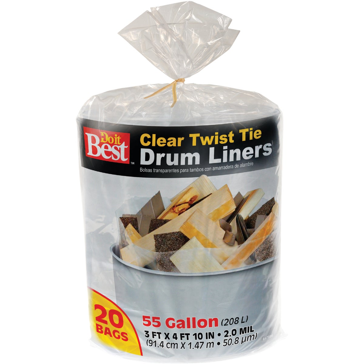 55GAL/20CT DRUM LINER - 647896 by Presto Products